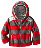 Rugged Bear Boys Red Stripe Sherpa Reversible Jacket size 3T