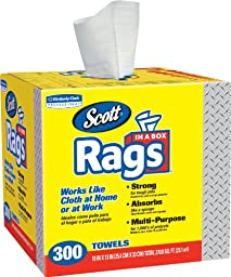 Kimberly-Clark 75600 Scott Rags, White (Pack of 300)