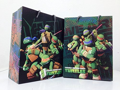 "Ninja Turtle Holographics Party Paper Gift Bags - 9"" Small (6 Packs) - 1"