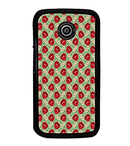 iFasho Animated Pattern flower with leaves Back Case Cover for Moto E2