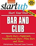 Start Your Own Bar and Club (StartUp Series) by Entrepreneur Press (2009) Paperback