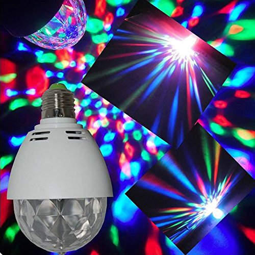 STONG Colorful Rotating LED RGB Crystal Magic Ball Sunflower Colorful Lighting Lamp, Best for Party, Disco Dj Stage Light, Multi changing Color for Xmas Home Dance Party Ballroom Club Pub Bar