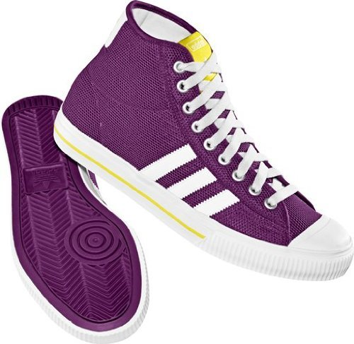 Adidas Originals Aditennis Hi Trainers Sneakers in Purple - sizes UK 6.5 & 7.5
