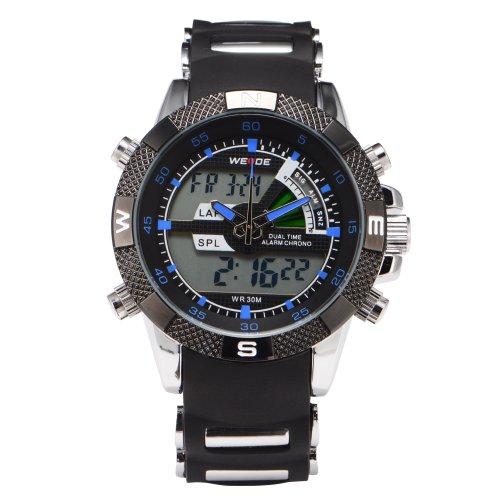 Digital Analogue Mens Boys Sportive Alarm Stopwatch Quartz Wristwatch + Gift Box