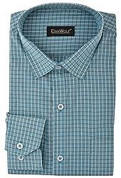 Edinwolf Men's Formal Shirt (EDFR703_38, Blue, 38)