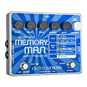 Electro-Harmonix Stereo Memory Man with Hazarai Delay Looper Pedal