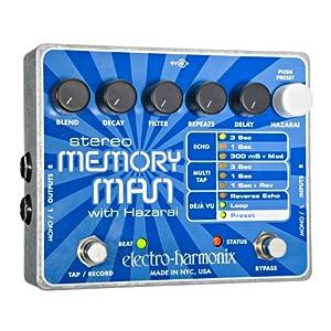 Electro-Harmonix Stereo Memory Man with Hazarai Delay Looper Pedal