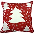 100% Cotton Printed Christmas Festive Design Cushion Cover Xmas Tree