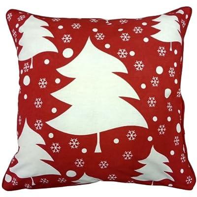 100% Cotton Printed Christmas Festive Design Cushion Cover Xmas Tree