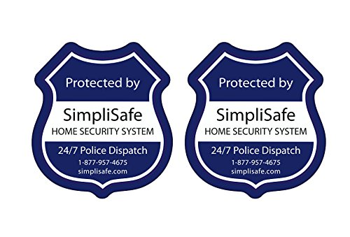 Simplisafe Window Decals Pack Of 2 Panic Sos Button Plus