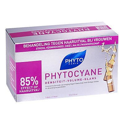 Phyto Phytocyane Revitalising Thinning Hair Treatment, 12 x 7.5ml