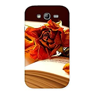 Delighted Rose Book Back Case Cover for Galaxy Grand Neo