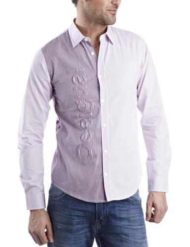 Desigual Desierto Mens Shirt Neon Pink X Small