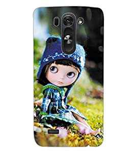 ColourCraft Cute Doll Design Back Case Cover for LG G3 BEAT