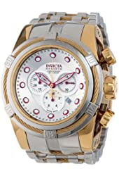 Invicta Men's 14068 Bolt Reserve Chronograph Silver Dial Stainless Steel Watch