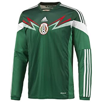 Buy Adidas Mexico Home Jersey World Cup 2014 Long Sleeve by adidas