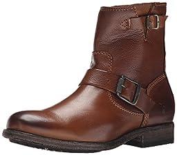 FRYE Women\'s Tyler-SVL Engineer Boot,  Cognac, 9 M US