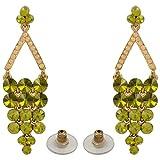 Tohfa Planet Green Dangle And Drop Earrings For Women
