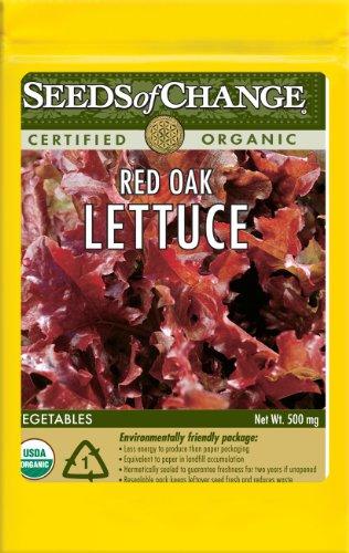 Seeds of Change Certified Organic Lettuce, Red Salad Bowl - 430 milligrams, 500 Seeds Pack