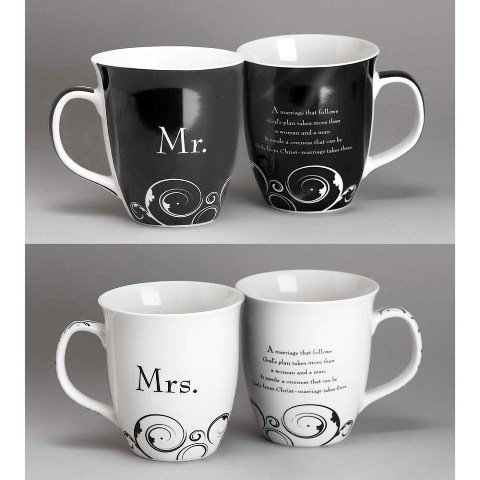 Mr. and Mrs. Christian Coffee Mug Set (Mr And Mrs Coffee Mugs compare prices)