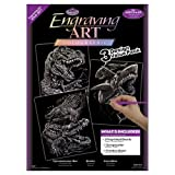 Royal & Langnickel Holographic Engraving Art A4 Holographic Reptiles Designed Painting Set (Pack of 3)