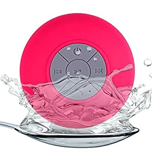 CZap Bluetooth Shower Water Proof & Shock Proof Speakers with Mic - Dark Pink