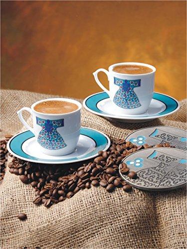 Ensemble Café Turc Turquoise