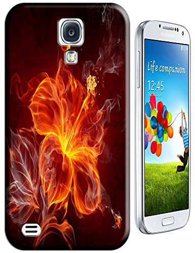 The Hallowmas Gift With Beautiful Fire Flowers Horses Dragon Nice Fashion Cell Phone Cases Design Special For Samsung Galaxy S4 I9500 No.2