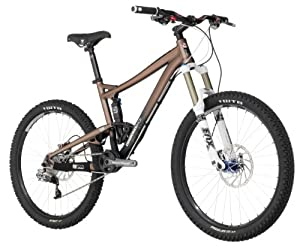 Diamondback Mission 26-Inch Wheeled 3 All Mountain Full Suspension Mountain Bike (Brown, Small/15-Inch)