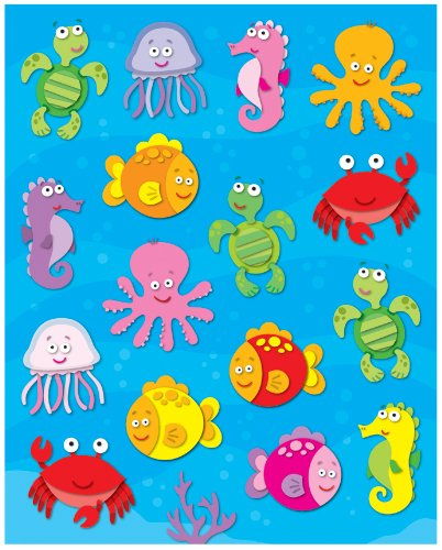 Carson Dellosa Sea Life Shape Stickers (168039)