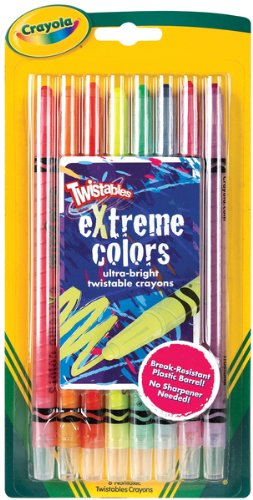 WMU 655630 Bright Neon Twistables Extreme Crayons - 8 Package