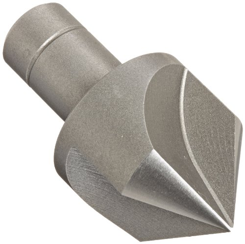 KEO 55327 Cobalt Steel Single-End Countersink, Uncoated (Bright) Finish, 3 Flutes, 90 Degree Point Angle, Round Shank, 3/4