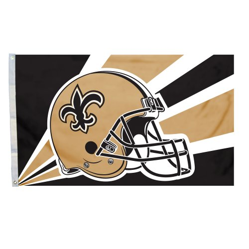 NFL New Orleans Saints 3-by-5 Foot Helmet Flag at Amazon.com