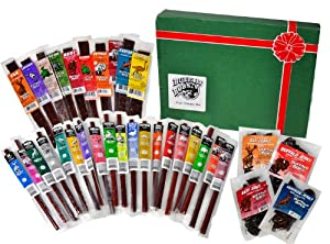 Wild Game Jerky by Buffalo Bob's - 33 Piece Exotic Gift Pack (Contains Elk, Alligator, Antelope, Buffalo, Duck, Kangaroo, Ostrich, and Pheasant) from Buffalo Bob's