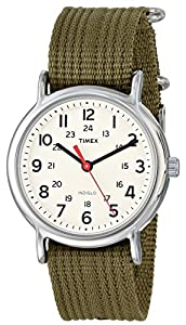 "Timex Unisex T2N651 ""Weekender"" Watch with  Olive Nylon Band"