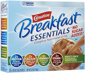 Carnation Instant Breakfast No Sugar Added, Variety Pack, 8pk