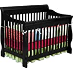 SAVE $69.25 - Delta Childrens Products Canton 4 in 1 Convertible Crib, Black $180.74
