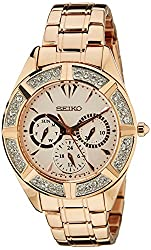 Seiko Lord Chronograph White Dial Womens Watch - SKY680P1