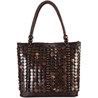 Diophy Colorful Woven Large Tote Accented
