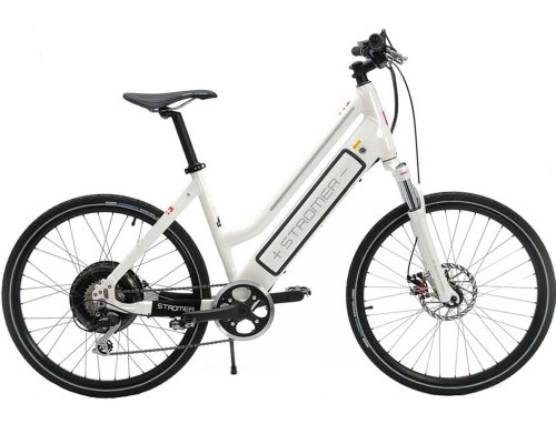 2012 Stromer Elite Sport Electric Motor Bicycle White Medium Road Stepthrough