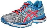 ASICS Women's Gel-Cumulus 17 Running Shoe Silver/Hot Pink/Turquoise 6.5 B(M) US