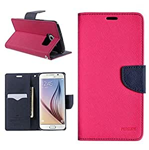 Mercury Wallet Flip Cover Samsung Galaxy A8 Pink For KTS