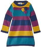Kite Baby Girls Knitted Rosette Striped Long Sleeve Dress