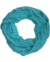 Blumen Damen Loop Schal aus Seide & Baumwolle / Seidenschal