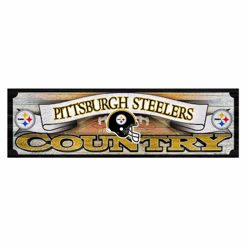 NFL Pittsburgh Steelers 9-by-30 Wood Sign