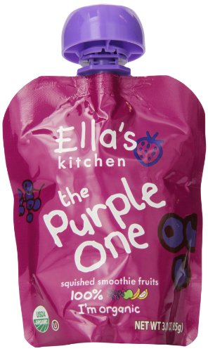 Ella's Kitchen Organic Smoothie Fruits, The Purple One, 3 Ounce Pouches (Pack of 7)