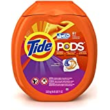 Tide Pods Laundry Detergent Packs Tub, Spring Meadow, 81 Count