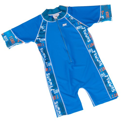 Baby Banz Blue Graffiti One Piece Boys Swimsuit Age 6 months