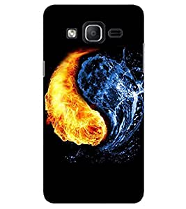 Evaluze yin yang Printed Back Cover for SAMSUNG GALAXY ON7 PRO 2016