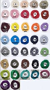 10 m Gummikordel, 3,0 mm, Kordel elastisch, 37 Farben / Farbe: 29